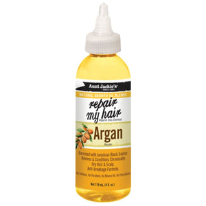 AUNT JACKIES NATURAL GROWTH OIL BLENDS REPAIR MY HAIR ARGAN, 118 ML