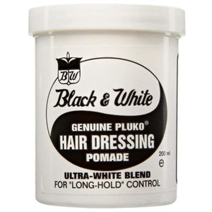 BLACK & WHITE GENUINE PLUKO HAIR DRESSING POMADE, 200 ML