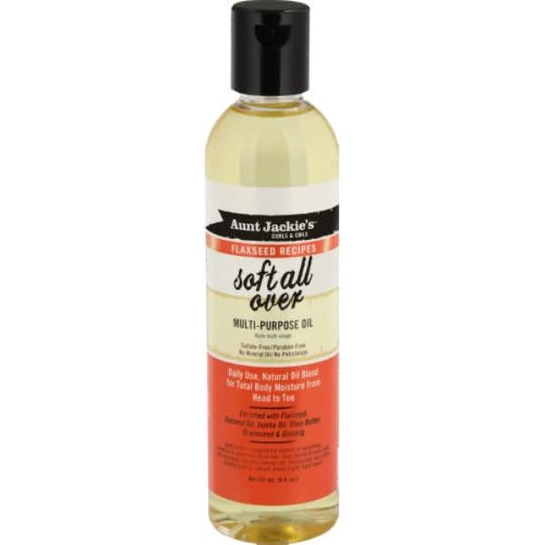 AUNT JACKIES FLAXSEED SOFT ALL OVER MULTI-PURPOSE OIL, 237 ML