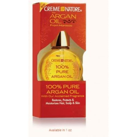 CREME OF NATURE 100% PURE ARGAN OIL, 29 ML - Visons Hair & Cosmetics Butik