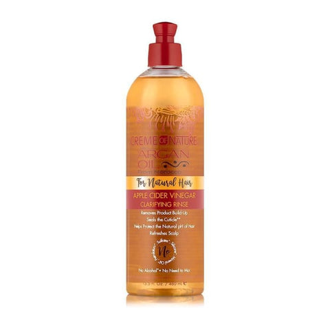 CREME OF NATURE - ARGAN OIL APPLE CIDER VINEGAR CLARIFYING RINSE, 445 ML - Visons Hair & Cosmetics Butik