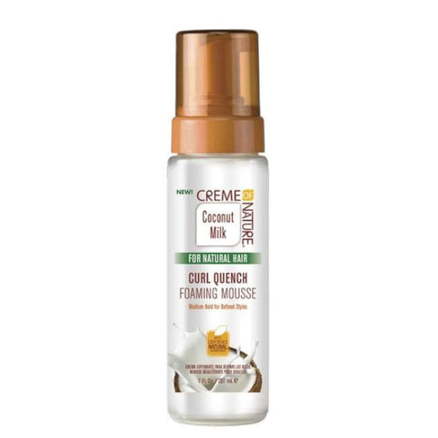 CREME OF NATURE - ARGAN OIL COCONUT MILK CURL QUENCH FOAM MOUSSE, 207 ML - Visons Hair & Cosmetics Butik