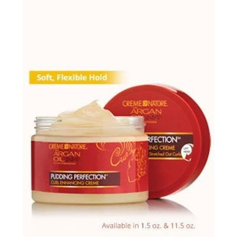 CREME OF NATURE ARGAN OIL PUDDING PERFECTION CURL ENHANCING CREME, 326G - Visons Hair & Cosmetics Butik