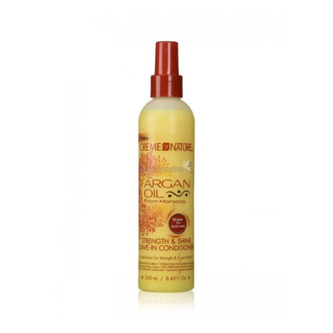 CREME OF NATURE ARGAN OIL STRENGTH & SHINE LEAVE-IN CONDITIONER, 250 ML