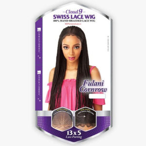100% Synthetic Hand Braided Lace Wig