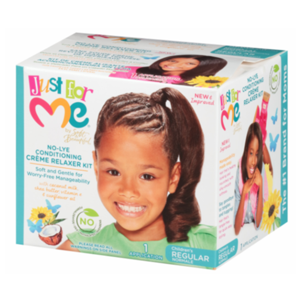 JUST FOR ME CHILDRENS REGULAR NO-LYE CONDITIONING CREME RELAXER KIT - REGULAR