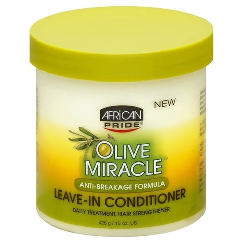 AFRICAN PRIDE - OLIVE MIRACLE ANTI-BREAKAGE  LEAVE-IN CONDITIONER, 425 G