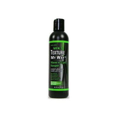 MEN'S TEXTURE MY WAY WAVE-N-CURL KEEPER MOISTURIZING HAIR LOTION, 237 ML