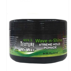 Mens Texture My Way Wave-N-Shine Xtreme Hold Pomade 110 Ml (3.5Oz)