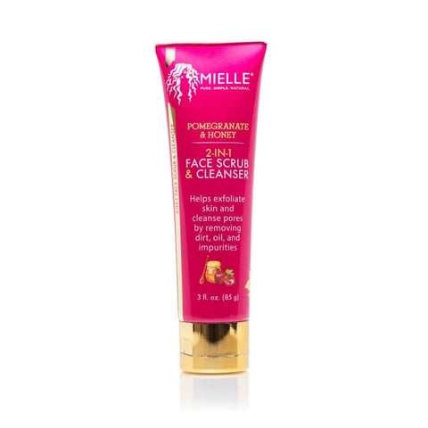 Mielle Organics - Pomegranate & Honey 2-In-1 Face Scrub & Cleanser 85 G - Hair Care