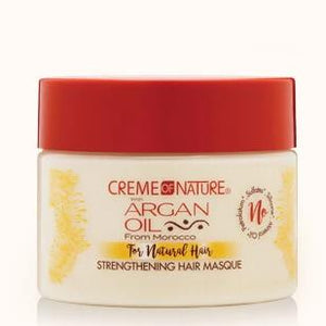 CREME OF NATURE - ARGAN OIL STRENGTHENING HAIR MASQUE FOR NATURAL HAIR, 326 G - Visons Hair & Cosmetics Butik