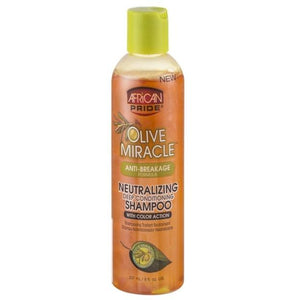 AFRICAN PRIDE OLIVE MIRACLE ANTI-BREAKAGE FORMULA NEUTRALIZING SHAMPOO, 237 ML