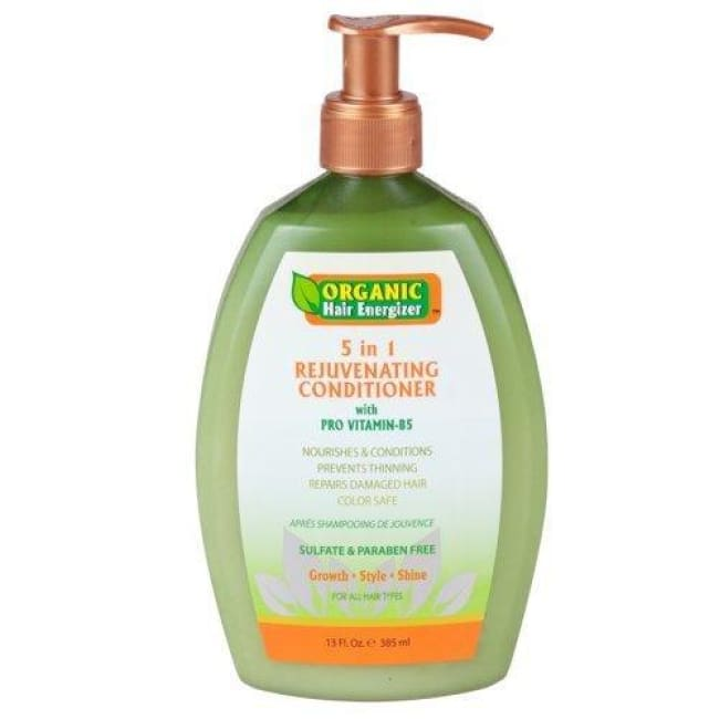 ORGANIC HAIR ENERGIZER 5 IN 1 REJUVENATING CONDITIONER WITH PRO VITAMIN-B5, 385 ML