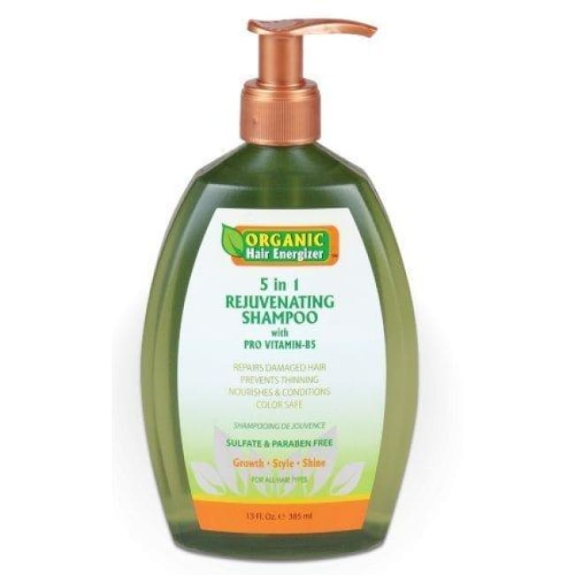 ORGANIC HAIR ENERGIZER  5 IN 1 REJUVENATING SHAMPOO WITH PRO VITAMIN-B5, 385 ML