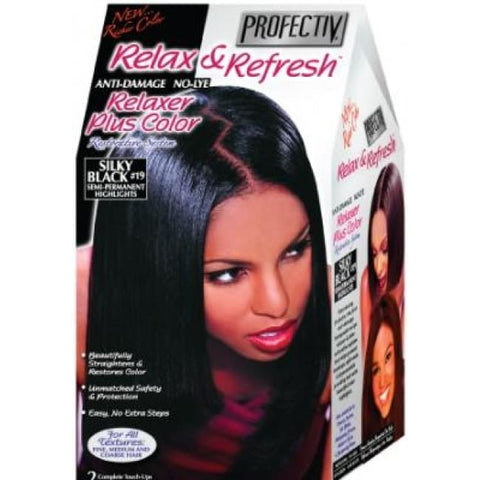 Profectiv Relax & Refresh Relaxer Plus Color Silky Black