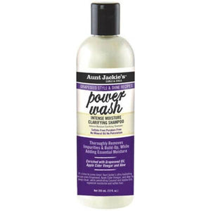 AUNT JACKIES GRAPESEED POWER WASH INTENSE MOISTURE CLARIFYING SHAMPOO, 355 ML