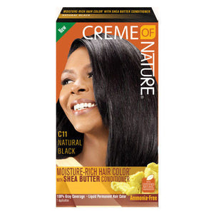 CREME OF NATURE MOISTURE RICH HAIR COLOR NATURAL BLACK C11
