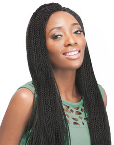 100% SYNTHETIC X-PRESSION SENEGALESE TWIST BRAID SMALL, 24""