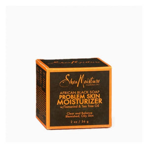 Shea Moisture - African Black Soap Problem Skin Moisturizer Tamarind & Tea Tree Oil 56 G