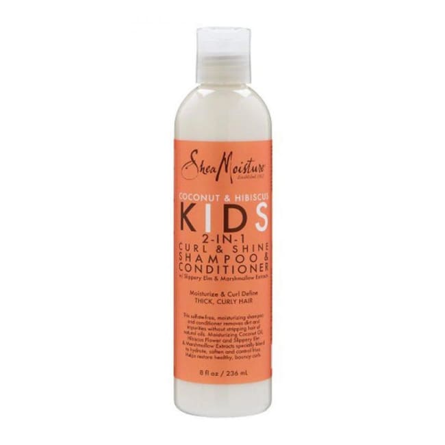 Shea Moisture Coconut & Hibiscus Kids 2-In-1 Curl & Shine Shampoo & Conditioner 236 Ml