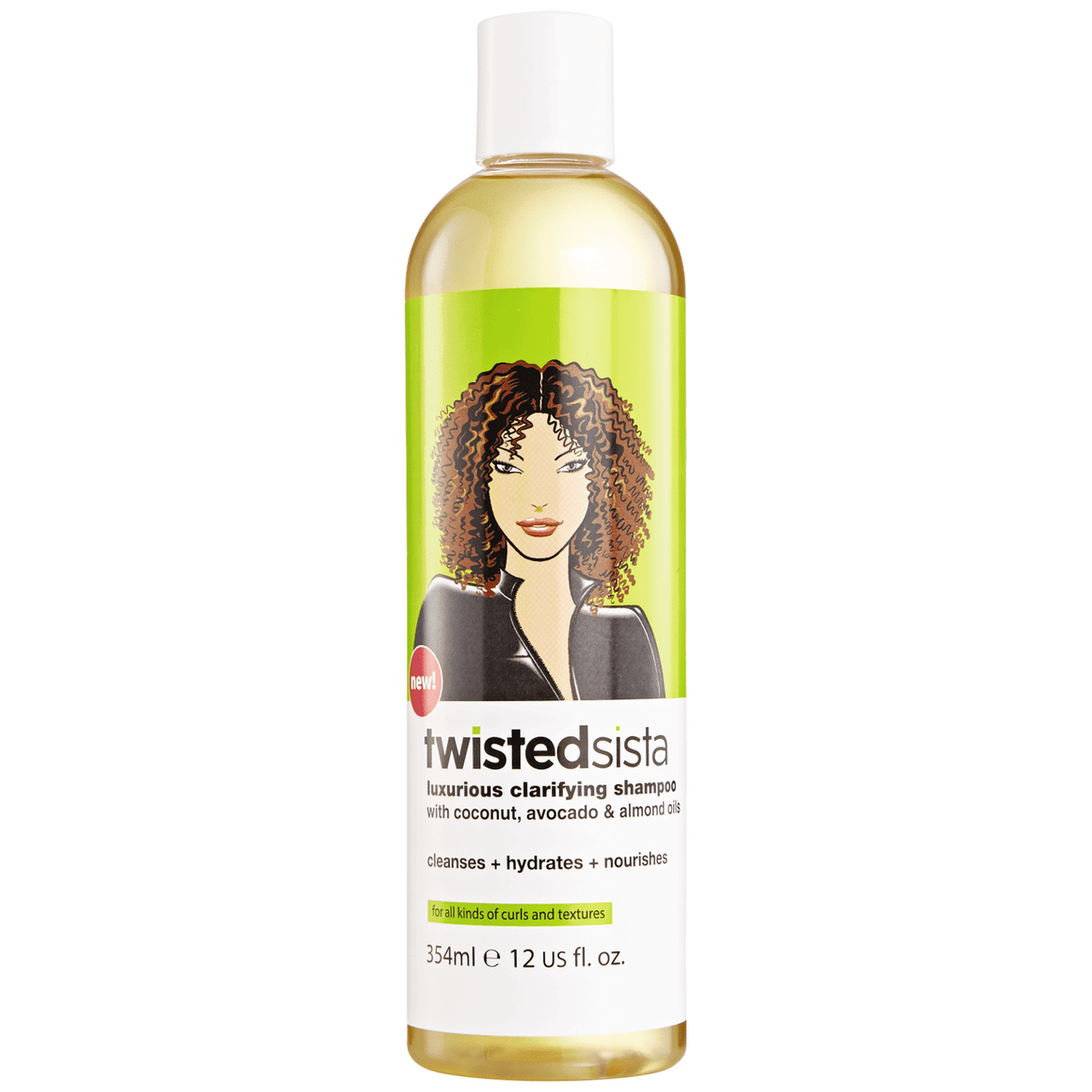 TWISTED SISTA LUXURIOUS CLARIFYING SHAMPOO, 354 ML