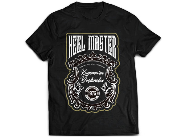 Yoshinobu Kanemaru 'Heel Master' Black T-Shirt