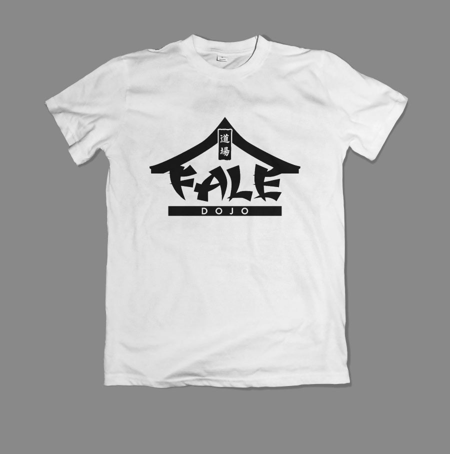 Fale Dojo Logo T-Shirt - Black on White