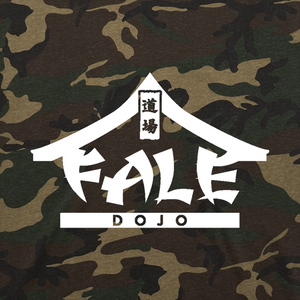 Fale Dojo Logo T-Shirt- White on Camo