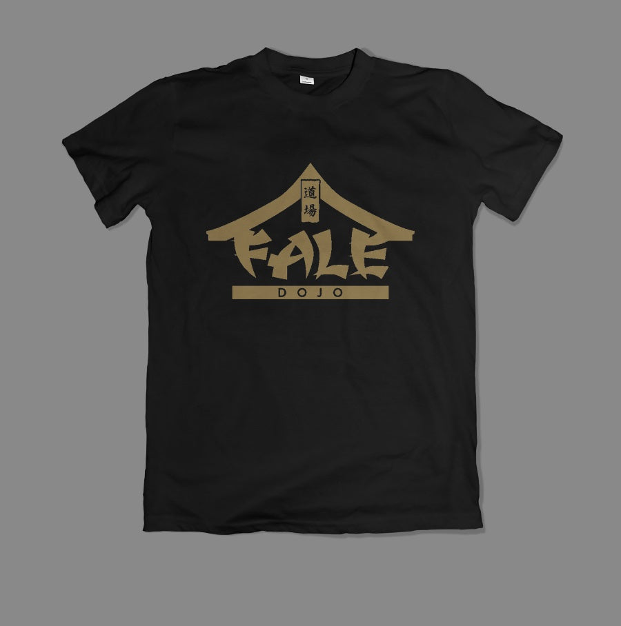 Fale Dojo Logo T-Shirt - Gold on Black