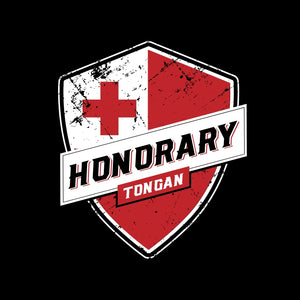 Honorary Tongan T-Shirt - Red On Black