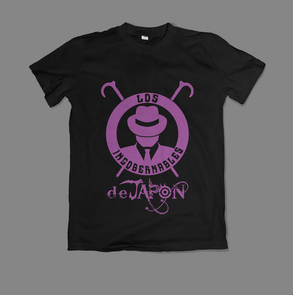Los Ingobernables de Japon Purple on Black T-Shirt