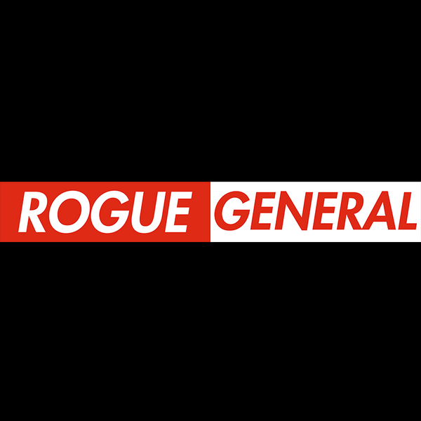 Rogue General - Toks Fale 'Rogue/General RED/WHITE' on Black Shirt