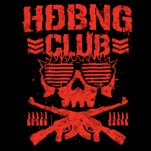 El Phantasmo 'HDBNG Club' Red Logo T-Shirt