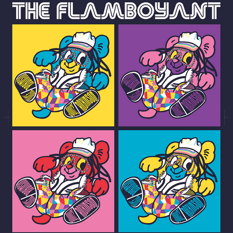 Juice Robinson 'The Flamboyant' Navy T-Shirt