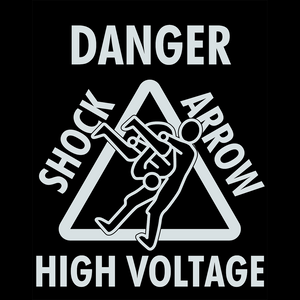 SHO 'Shock Arrow' White On Black T-Shirt