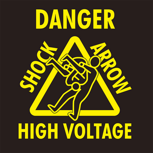SHO 'Shock Arrow' Yellow On Black T-Shirt
