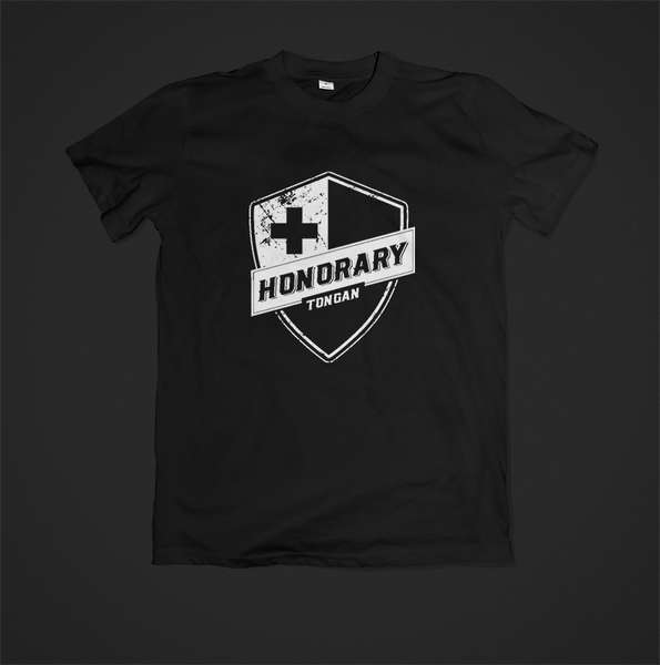 Honorary Tongan T-Shirt - Black On Black