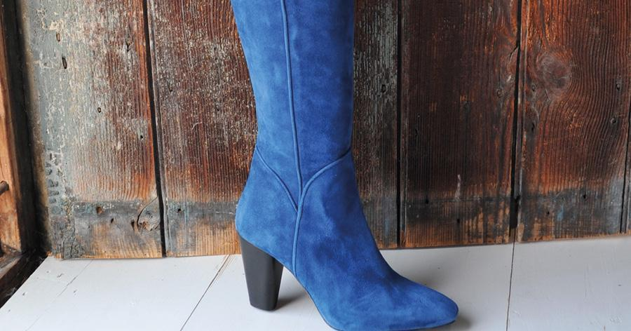 Women's Blue Boots by DuoBoots