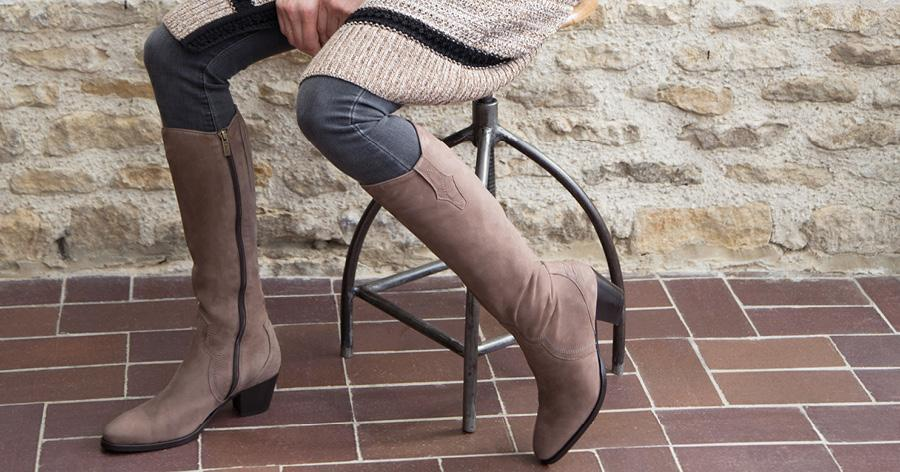 Women's Taupe Boots