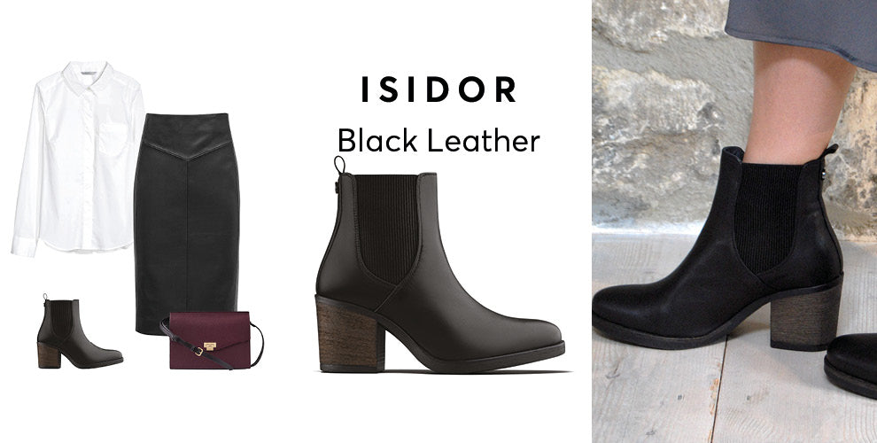 Isidor black leather