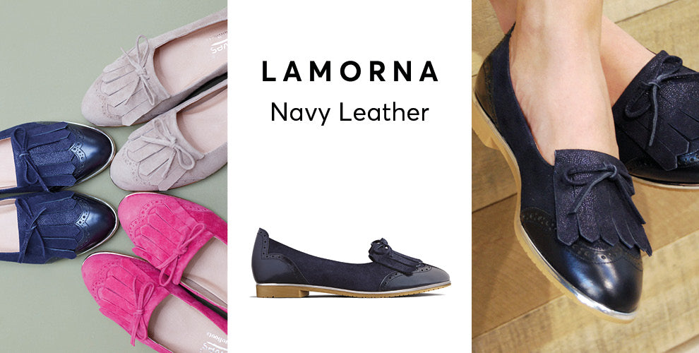 Lamorna navy leather