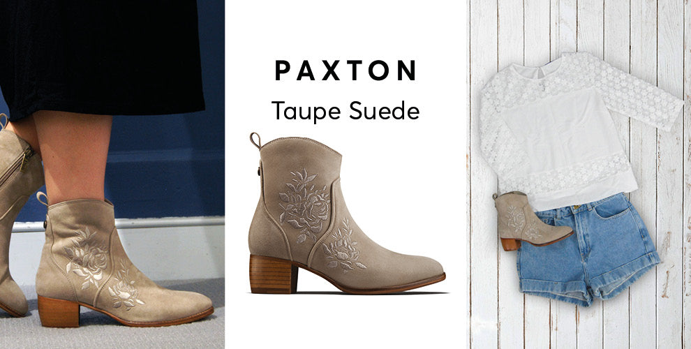 Paxton taupe suede