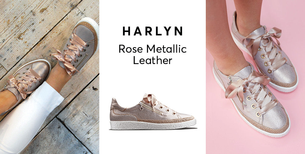 Harlyn rose metallic leather