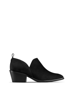Avalon Black Suede - Stylish shoe boot slip on
