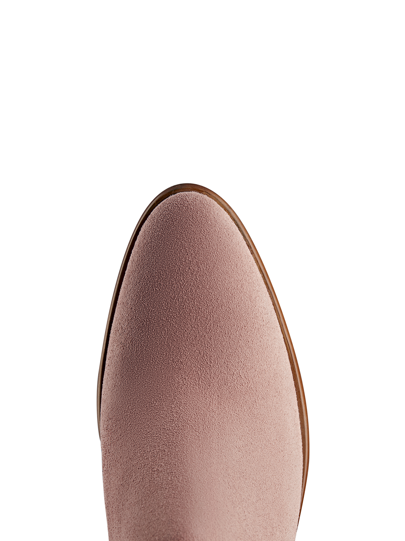Avalon has a flattering fit, and a smooth almond pink suede toe shape.