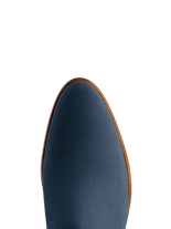 Avalon has a flattering fit, and a smooth almond blue suede toe shape.