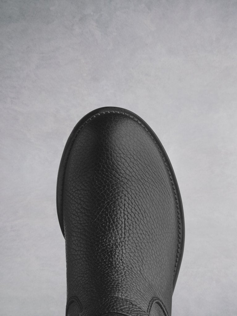 Demeter has a classic round toe shape and a heavy tread on the sole.