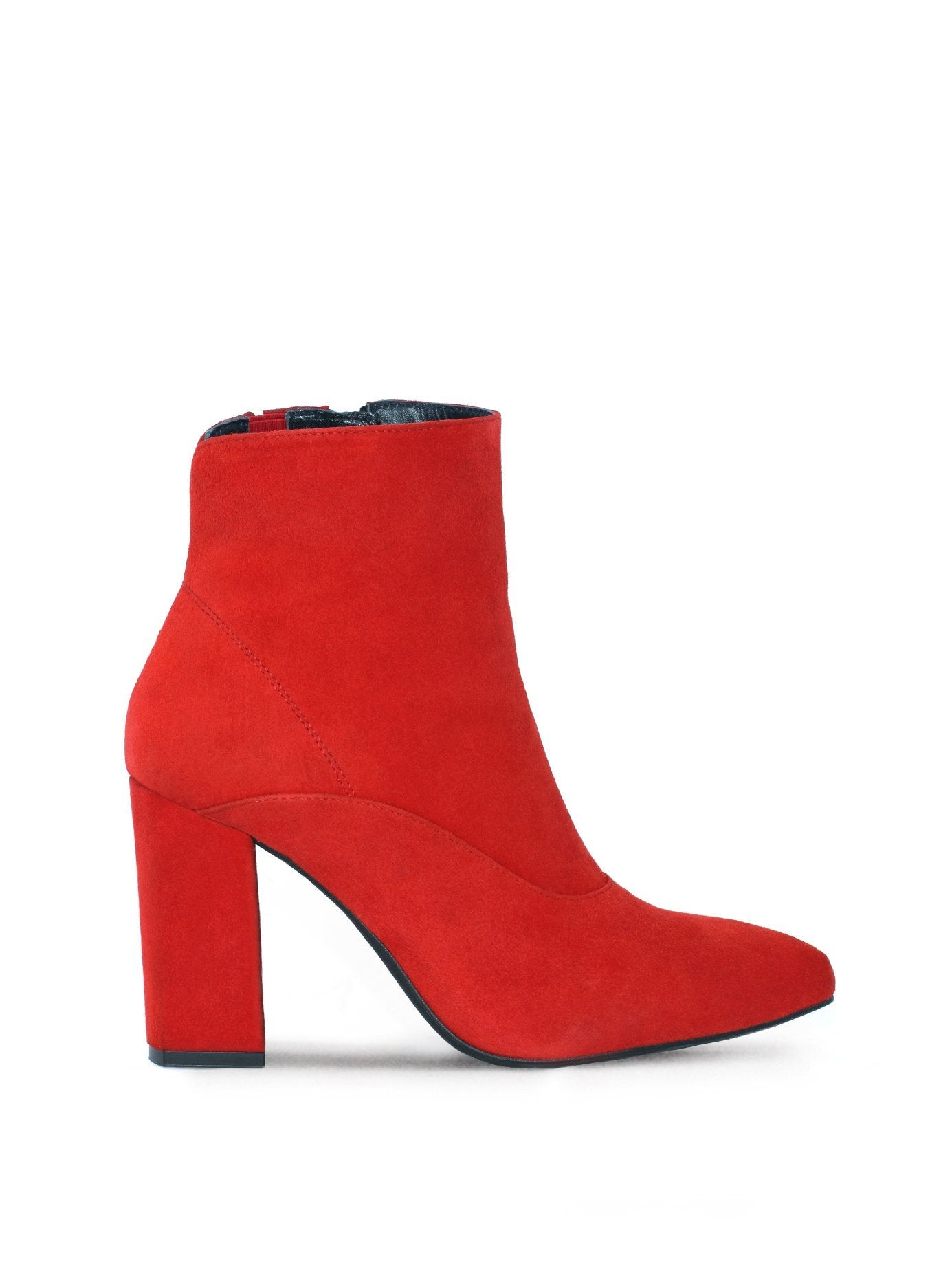 Dottie - Vermillion Red Suede