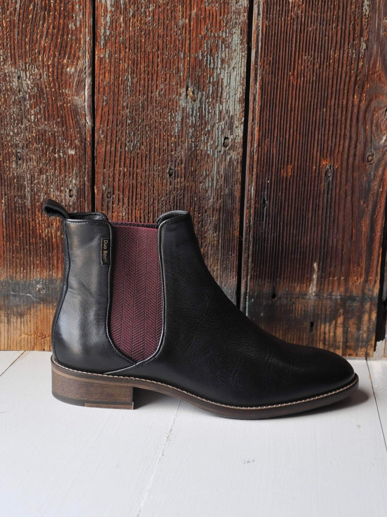 This Chelsea boot has an almond toe shape and a removable padded in sock.