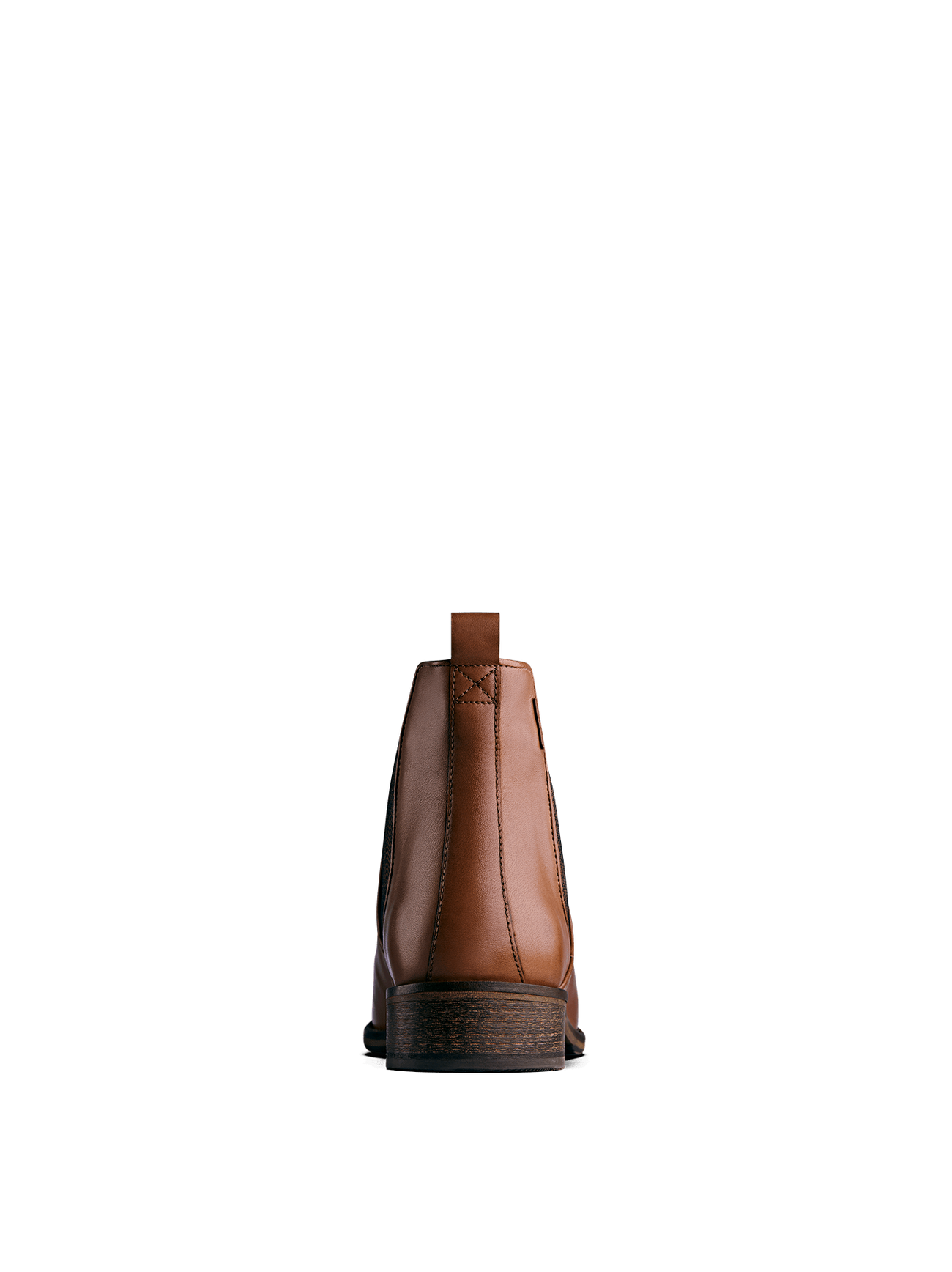 Grove, a tan leather Chelsea ankle boot with a complementary elastic panel.